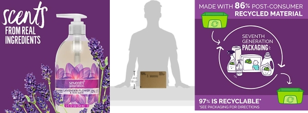 Purchase Seventh Generation Hand Wash Soap, Lavender Flower & Mint, 12 Fl Oz, (Pack of 8) on Amazon.com
