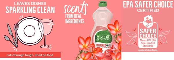 Purchase Seventh Generation Dish Liquid Soap, Summer Orchard Scent, 22 Oz, 6 Pack, 22 Ounce on Amazon.com