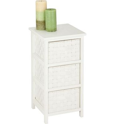 Purchase Honey-Can-Do 3-Drawer Natural Wood Frame Storage Organizer Chest, 12.01 by 24.80-Inch, White at Amazon.com
