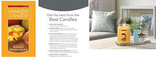 Purchase Yankee Candle Large Jar Candle Mango Peach Salsa on Amazon.com