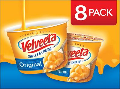 Purchase VELVEETA Original Microwavable Shells & Cheese Cups, 8 Count Box, Single Serving Cups with Delicious Velveeta Cheese Sauce, Convenient & Ready in 3.5 Minutes at Amazon.com