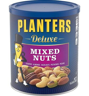Purchase Planters Deluxe Mixed Nuts with Hazelnuts, 15.25 Ounce. Resealable Jar - Cashews, Almonds, Hazelnuts, Pistachios & Pecans Roasted in Peanut Oil with Sea Salt - Kosher Savory Snack at Amazon.com