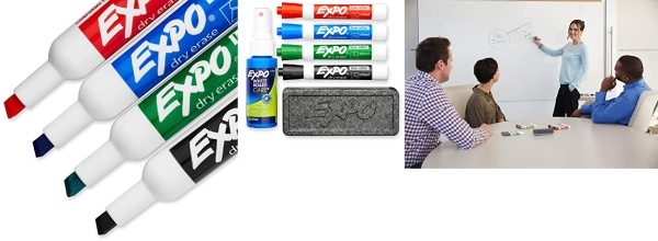Purchase EXPO Dry Erase Marker Set, Chisel Tip, 6 Piece on Amazon.com
