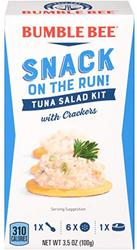 BUMBLE BEE Snack on the Run! Tuna Salad with Crackers Kit, 3.5 Ounce Kit (Pack of 3)