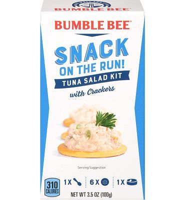 Purchase BUMBLE BEE Snack on the Run! Tuna Salad with Crackers Kit, 3.5 Ounce Kit (Pack of 3) at Amazon.com