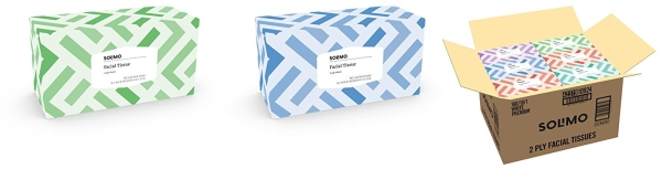 Purchase Amazon Brand - Solimo Facial Tissues (18 Flat Boxes), 160 Tissues per Box (2880 Tissues Total) on Amazon.com