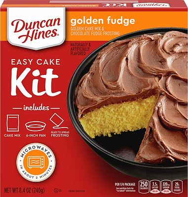 Purchase Duncan Hines Easy Cake Kit Golden Fudge Cake Mix, 8.4 OZ at Amazon.com