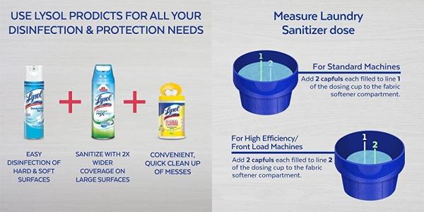 Purchase Lysol Laundry Sanitizer Additive, Crisp Linen, 41oz on Amazon.com