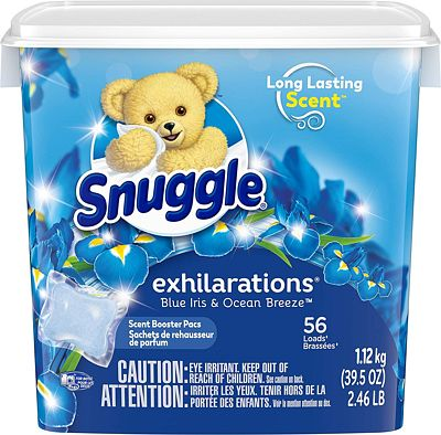 Purchase Snuggle Laundry Scent Boosters Concentrated Scent Pacs, Blue Iris Bliss, Tub, 56 Count at Amazon.com