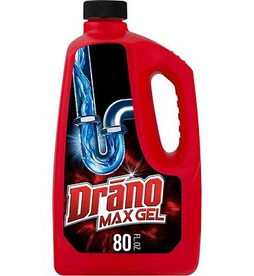 Purchase Drano Max Gel Drain Clog Remover and Cleaner for Shower or Sink Drains, Unclogs and Removes Hair, Soap Scum, Blockages, 80 oz at Amazon.com