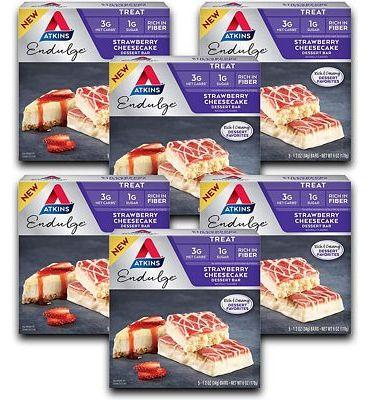 Purchase Atkins Endulge Treat Strawberry Cheesecake Dessert Bar. Rich and Creamy Dessert Favorites. Keto-Friendly. (30 Bars) at Amazon.com