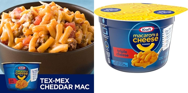 Purchase Kraft Easy Mac Triple Cheese Microwavable Cup (2.05 oz Cups, Pack of 10) on Amazon.com