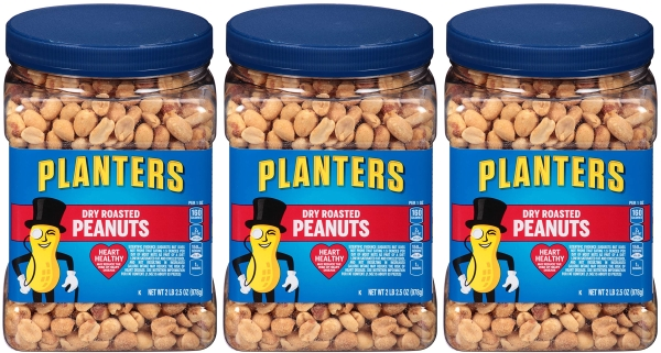 Purchase Planters Dry Roasted Peanuts (34.5oz, Pack of 3) at Amazon.com