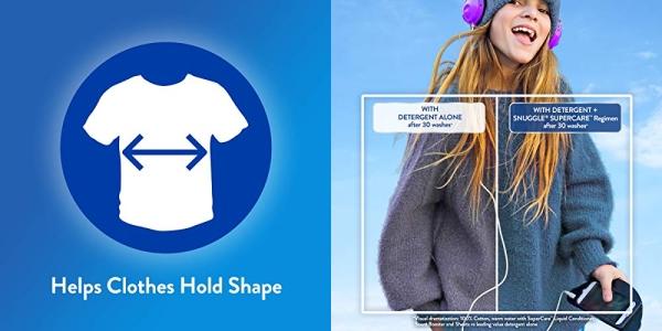 Purchase Snuggle SuperCare Liquid Fabric Softener, Sea Breeze, 95 Ounce, 90 Loads on Amazon.com