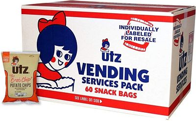 Purchase Utz Potato Crab Chips 1 oz. Bags (60 Count) Crispy Potato Chips Made from Fresh Potatoes, Perfect for Vending Machines, Individual Snacks to Go, Trans-Fat Free at Amazon.com