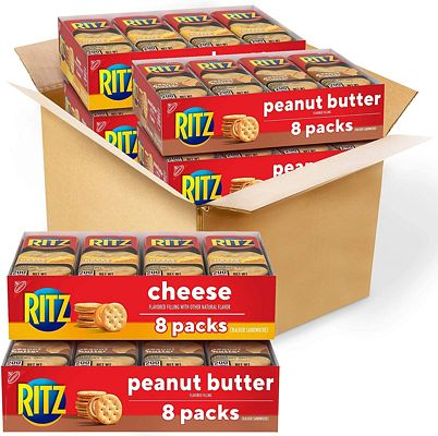 Purchase RITZ Peanut Butter Sandwich Cracker Snacks and Cheese Sandwich Crackers, Snack Crackers Variety Pack, 32 Snack Packs at Amazon.com