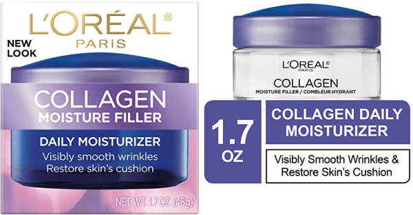 Purchase Collagen Face Moisturizer by L'Oreal Paris, Anti-Aging Day Cream and Night Cream to Smooth Wrinkles, Lightweight, Non-greasy Facial Cream, 1.7 oz. on Amazon.com