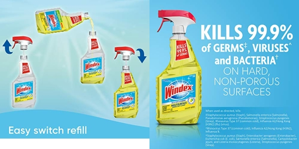 Purchase Windex Multi-Surface Cleaner and Disinfectant Spray Bottle, Citrus Fresh Scent, 23 fl oz on Amazon.com