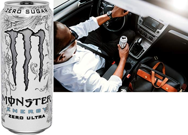 Purchase Monster Energy Zero Ultra, Sugar Free Energy Drink, 16 Ounce (Pack of 24) on Amazon.com