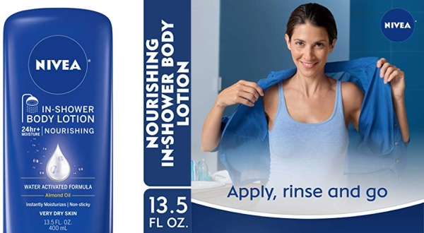 Purchase NIVEA Nourishing In-Shower Body Lotion - Non-Sticky For Dry to Very Dry Skin - 13.5 fl. oz. Bottle on Amazon.com