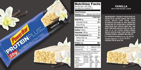 Purchase PowerBar Protein Plus Bar, Vanilla, 2.11 Ounce (15 Bars) on Amazon.com