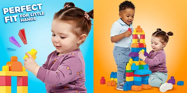 Purchase Mega Bloks First Builders Big Building Bag with Big Building Blocks, Building Toys for Toddlers (80 Pieces) - Blue Bag on Amazon.com