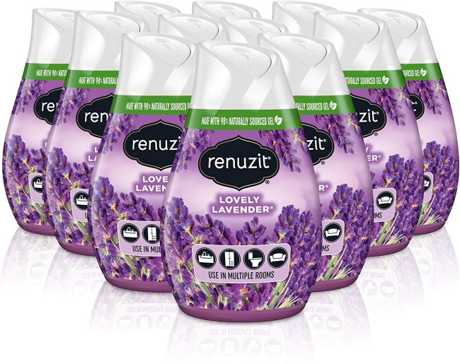 Purchase Renuzit Gel Air Freshener, Lovely Lavender, 12 Count at Amazon.com