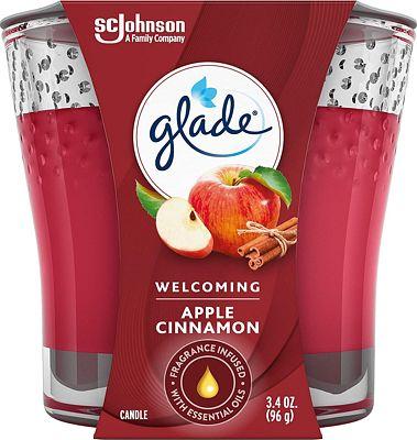 Purchase Glade Candle Jar, Air Freshener, Apple Cinnamon, 3.4 oz at Amazon.com