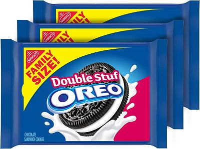 Purchase OREO Double Stuf Chocolate Sandwich Cookies, Family Size, 3 Packs at Amazon.com