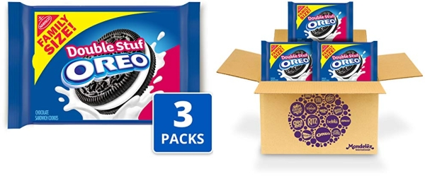 Purchase OREO Double Stuf Chocolate Sandwich Cookies, Family Size, 3 Packs on Amazon.com