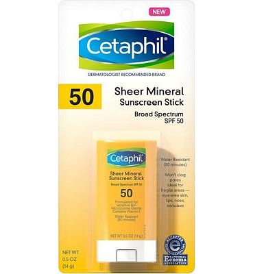 Purchase CETAPHIL Sheer Mineral Sunscreen Stick for Face & Body, 0.5oz, SPF 50 at Amazon.com