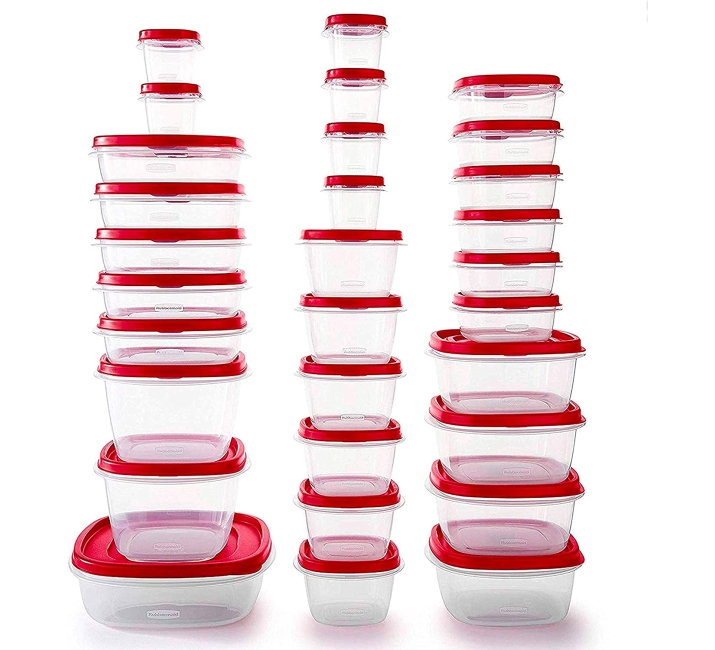 Purchase Rubbermaid Easy Find Vented Lids Food Storage Containers, Set of 30 (60 Pieces Total), Racer Red at Amazon.com
