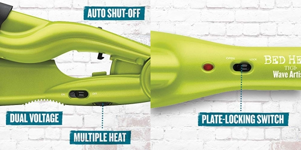 Purchase Bed Head Wave Artist Ceramic Deep Hair Waver for Beachy Waves, Green on Amazon.com