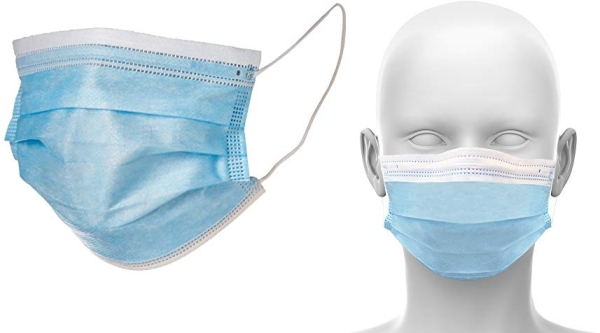 Purchase Single Use Disposable Face Mask (Pack of 50), Blue on Amazon.com