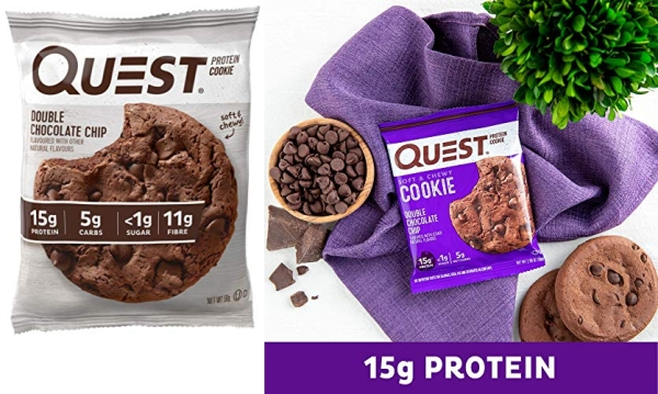 Purchase Quest Nutrition Double Chocolate Chip Protein Cookie, High Protein, Low Carb, 12 Count on Amazon.com