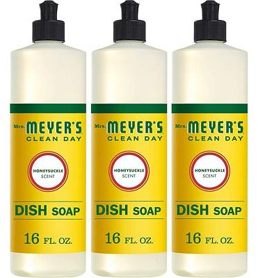 Purchase Mrs. Meyers Clean Day Liquid Dish Soap, Honeysuckle, 16 ounce bottle (Pack of 3) at Amazon.com