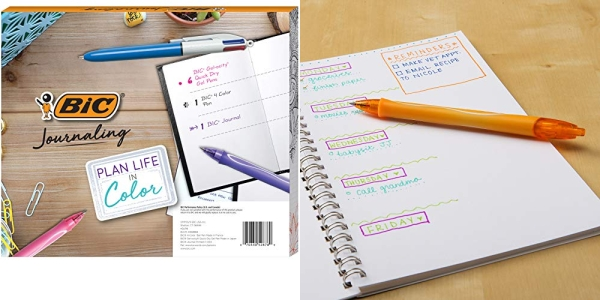 Purchase BIC Journaling Kit, Gel Pens/Ballpoint Pen/Journal, Assorted Colors, 8-Count on Amazon.com