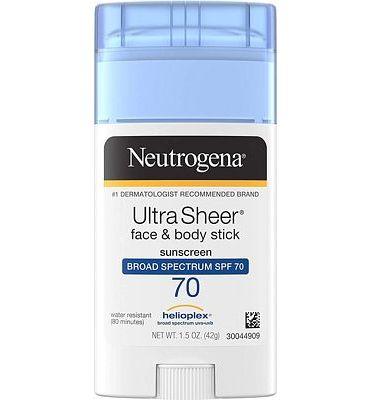 Purchase Neutrogena Ultra Sheer Non-Greasy Sunscreen Stick for Face & Body, Broad Spectrum SPF 70 UVA/UVB Sunscreen Stick, PABA-Free, 1.5 oz at Amazon.com