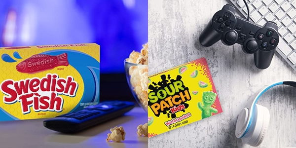Purchase SOUR PATCH KIDS Original Candy, SOUR PATCH KIDS Watermelon Candy & SWEDISH FISH Candy Variety Pack, 15 Movie Theater Candy Boxes on Amazon.com