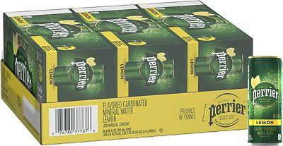Purchase Perrier Lemon Flavored Carbonated Mineral Water, Slim Cans, 8.45 Fl Oz (30 Pack) at Amazon.com