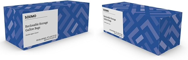 Purchase Amazon Brand - Solimo Gallon Food Storage Bags, 120 Count on Amazon.com