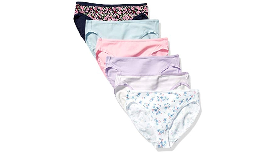 Purchase Amazon Essentials Women's 6-Pack Cotton High Cut Bikini Underwear, Wildflowers, XS at Amazon.com