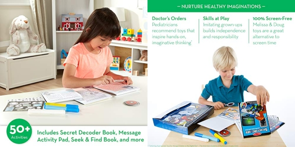 Purchase Melissa & Doug On the Go Secret Decoder Deluxe Activity Set and Super Sleuth Toy on Amazon.com