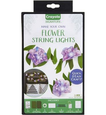 Purchase Crayola DIY String Lights Kit, Flower Lights, Gift for Crafters, Ages 14, 15, 16, 17 at Amazon.com