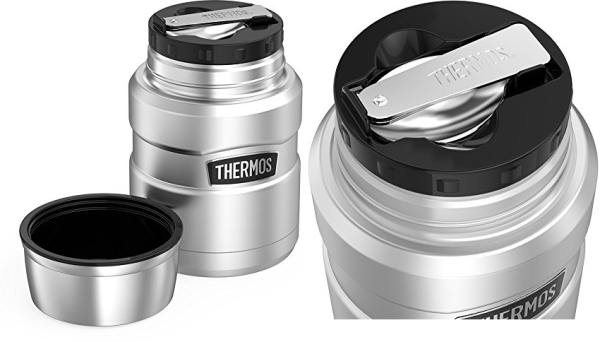 Purchase THERMOS Stainless King Vacuum-Insulated Food Jar with Spoon, 16 Ounce, Matte Steel on Amazon.com