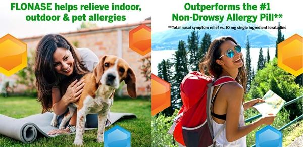 Purchase Flonase Allergy Relief Nasal Spray, 24 Hour Non Drowsy Allergy Medicine, Metered Nasal Spray - 72 Sprays on Amazon.com
