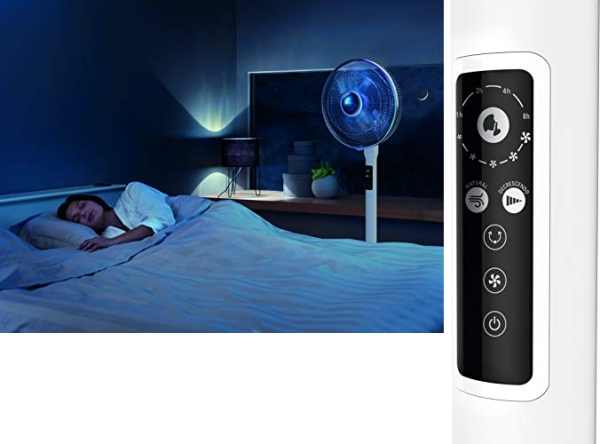 Purchase Rowenta Turbo Silence Extreme+ Stand Fan, Powerful, Remote Control, Auto-Off Timer on Amazon.com
