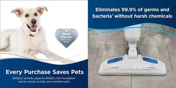 Purchase BISSELL Power Fresh Steam Mop, Floor Steamer, Tile Cleaner, and Hard Wood Floor Cleaner, 1940, Blue Powerfresh on Amazon.com
