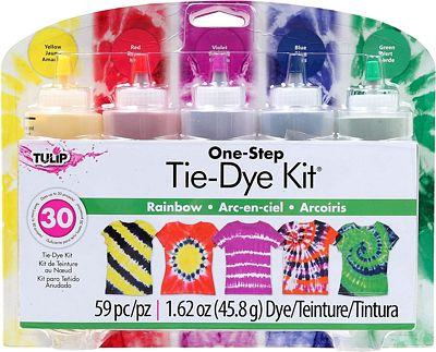 Purchase Tulip One-Step 5 Color Tie-Dye Kits Rainbow, 1.62oz at Amazon.com