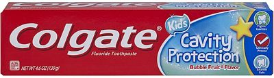 Purchase Colgate Kids Cavity Protection Toothpaste, Bubble Flavor, 4.6 Ounce at Amazon.com
